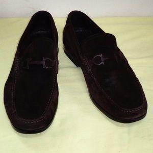 GUC SALVATORE FERRAGAMO Suede Leather Shoes Sz 12M